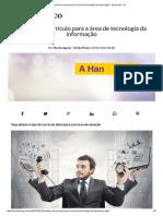Modelo de Currículo Para a Área de Tecnologia Da Informação - Economia - IG