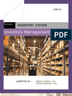 Inventory System - By Nitin n Umesh