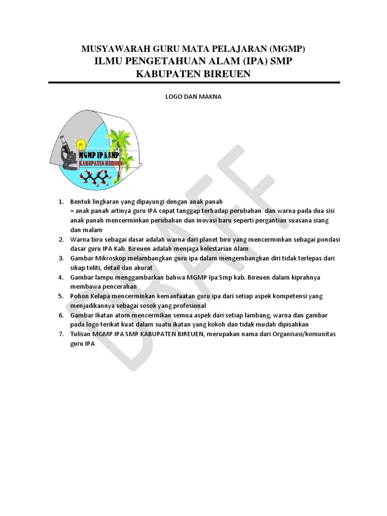 Logo Mgmp Ipa Smp Kabupaten Bireuen