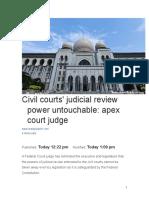 Civil courts' judicial review power untouchable