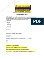 Analise Combinatoria Combinacao 2016
