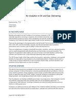 Analytics in Oil Gas