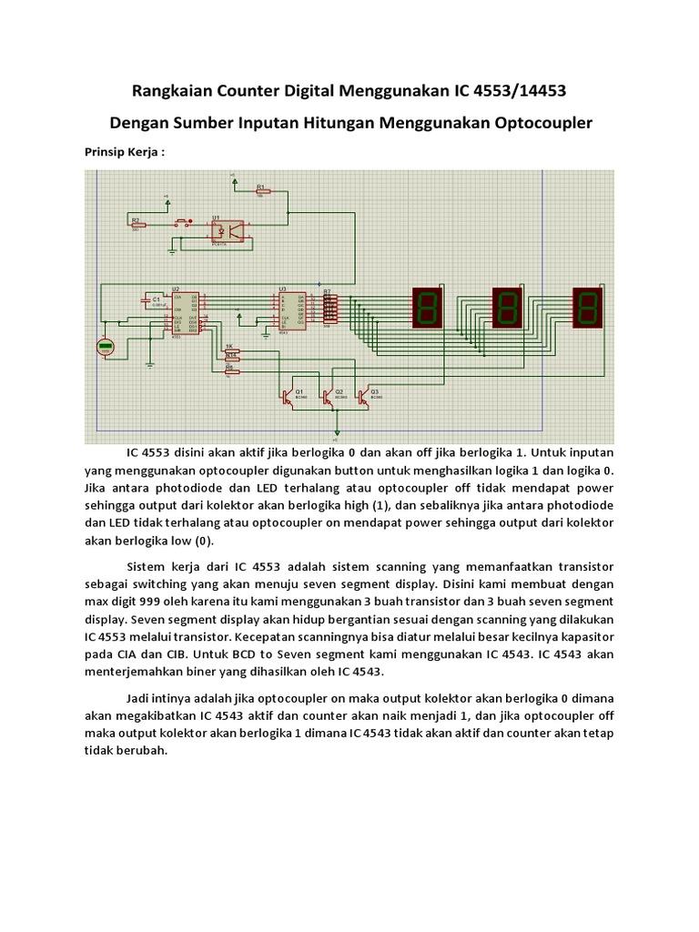 Rangkaian Counter Digital Menggunakan IC 4553 opto docx
