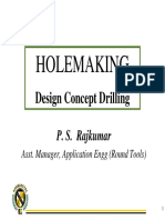 4.3 Hole Making Design Concept Drilling