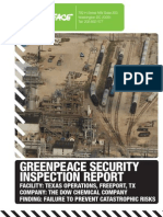 Dow facility fails Greenpeace citizen inspections