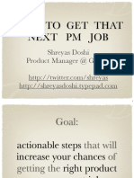 SVPMA-03-2010-How to Get That Next PM Job-Shreyas Doshi