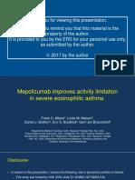 4673 - Mepolizumab Improves Activity Limitation