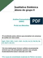 Analise Qualitativa - Cations Grupo II