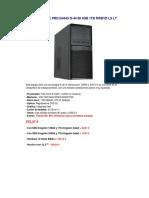 Pc Gdx Office Pro i54445 i5-44 60 4gb 1tb