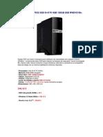 Pc Gdx Office Ssd i3-4170 4gb 120gb Ssd