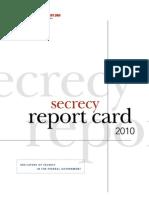 2010 Secrecy Report Card