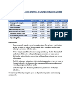 Financial analysis  of Olympic Industries Limited