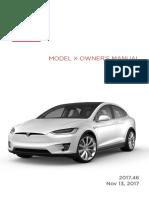Model x Owners Manual North America En