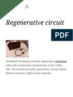 Regenerative Circuit