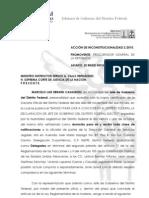 Respuesta Jefe de Gobierno - Acción de inconstiucionalidad 2/2010 - Matrimonio Gay