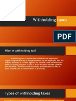 Withholding Taxes Report