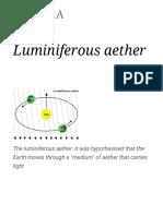 Luminiferous Aether