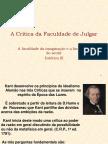 A Crítica Da Faculdade de Julgar Estética III
