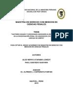 Atarama-Factores Asociados Al Debido Proceso Penal, Loreto