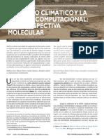 EL CAMBIO CLIMÁTICO Y LA QUÍMICA COMPUTACIONAL