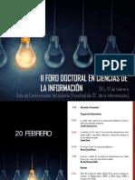 II Foro Doctoral en Ciencias de la Información