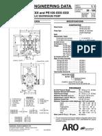 ARO PD10X PE10X 1 Inch Metallic Diaphragm Pump Datasheet