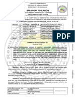 Barangay Resolution 2018 45