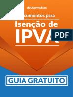 01 Guia e Documentos Para Isenção de IPVA