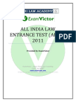 EV_AILET 2011 Question Paper and Answer Key