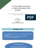 Comparison of Four Different Reduction Methods for Anterior