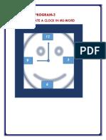 Create a Clock in Ms