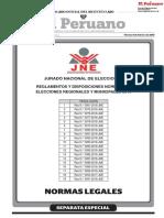 Reglamentos y Disposiciones Normativas Elecciones Regionales y Municipales 2018