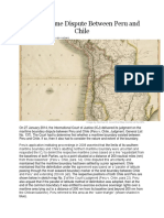 The Maritime Dispute Between Peru and Chile