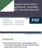 Ppt Prinsip Preparasi Bahan-bahan Kosmetik (Pembersih, Pelembab