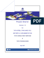 Project Charter TSTH SAP ECC 6.0 Implmenation