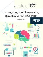 Binary Logical Reasoning Questions for CAT PDF 2nd NOV