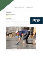 Construcción de Pisos y Losas de Concreto