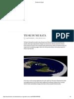 Teori Bumi Rata