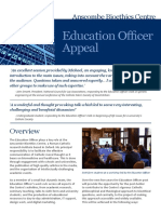 Education Officer Appeal