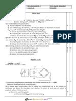 Devoir de Contrôle N°2 - Sciences physiques - 2ème Sciences (2015-2016) Mr Slaheddine Inoubli