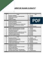 2016 17 Calendario y Reglamentos de Alava 030517