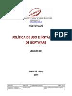 Politica Instalacion Uso Software