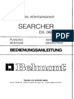 Belmont Searcher DX-068 Dental X-Ray - User Manual
