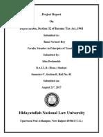 Principle of Taxation Law Roll No. 81 Ishu Deshmukh