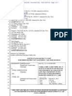 Microsoft v. Corel - Corel's Motion for JMOL on 35 USC § 289 (ECF 306)