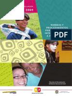 Normas y Procedimientos de Atención Integral Adolescentes.