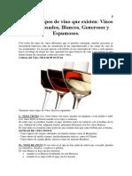 Los Cinco Tipos de Vino Que Existen