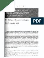 Neurobiologia II - Memoria-  Kandel