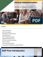 Fiori Technical Administration Workshop Slide Deck