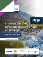 El Almacenamiento de Recursos Hídricos en AQP